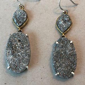 Silpada Sterling Silver Glisten Up Druzy Earrings